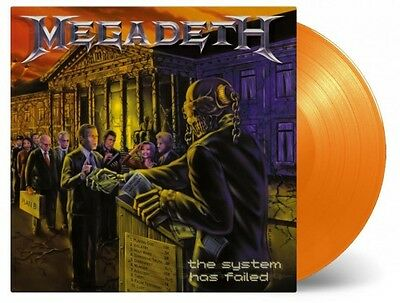 Megadeth - System Has Failed 180g ORANGE COLOURED vinyl LP Peace Sells Dystopia