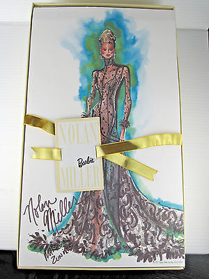 NIB 1998 Nolan Miller Sheer Illusion Barbie Doll + Signed Artwork 20662 Ltd Ed.