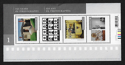 Canada Stamps — Souvenir Sheet — Art, 150 Years of Photography #2627 — MNH