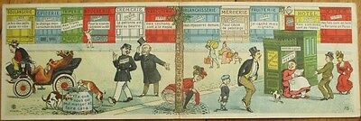 Novelty/Mechanical Double-View 1905 French Postcard: People Pooping & Peeing/Pee