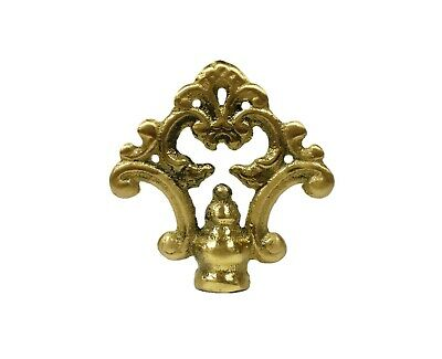Lamp Finial-Solid Cast Brass TRADITIONAL fancy loop lamp finial w/dual threads
