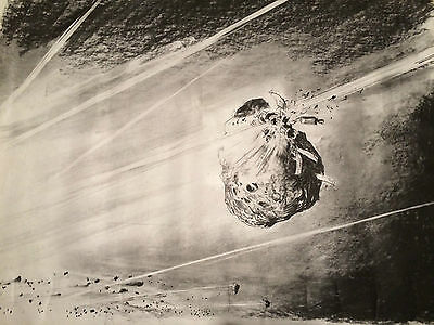 "Original Movie Concept Artwork from the 1975 film ""Meteor"""