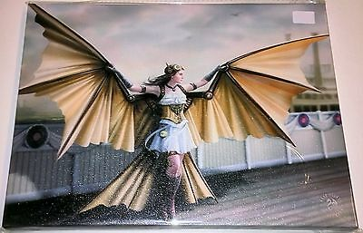 The Aviator Canvas - Anne Stokes - 25 x 19 cm - Steampunk - Wings - Flight