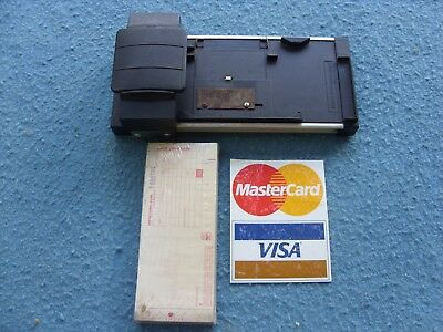 Vintage DataCard Addressograph Manual Credit Card Machine Imprinter