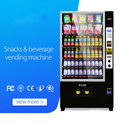 New Large Modern Refrigerated Combo Beverage & Snack Vending Machine D 720 - 10G