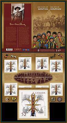 2007 SCOUTS CANADA  YEAR 100 th. ANNIVERSARY COMPLETE BOOKLET