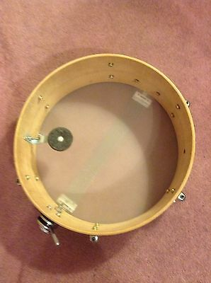 "Vintage Drum Mate Star Tama 14"" Wood Snare Made In Japan Red Marble Swirl 1960s"