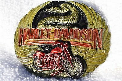 Authentic Harley Davidson,Wings, SnakeMotorcycle,Belt Buckle