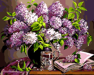 Large Paint By Number Kits S2 40*50CM DIY Floral Still Life 8036 AU STOCK