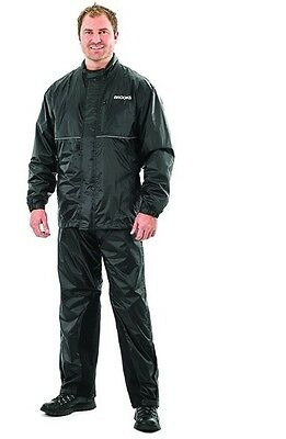 Motorcycle Water Proof Rain Suit, Reflective Piping, Heat Resistant Leg Inserts