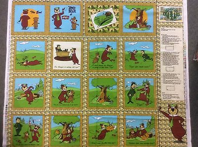 Yogi Bear & BooBoo Fabric Panel Book Hanna Barbera