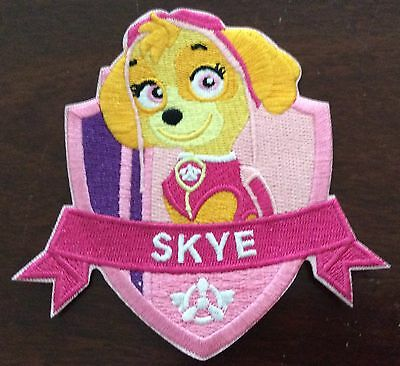 LARGER SKYE PAW PATROL   Iron On Patch Buy 2 We Send 3 Of These