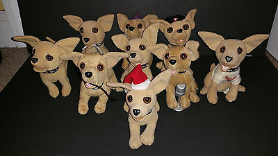 Taco Bell Talking Plush Chihuahua Dog Yo Quiero Lot Of 10 By Applause
