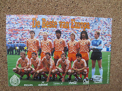 Holland Netherlands Postcard From The 1988 Uefa European Championships Germany