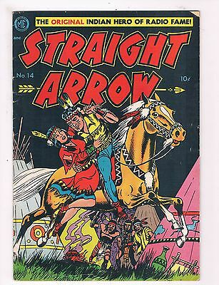 Straight Arrow # 14 VG Magazine Ent. ME Comic Book Golden Age TC1