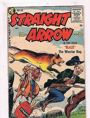 Straight Arrow # 43 VG Magazine Enterprises Golden Age Comic Book 1st Blaze JH1