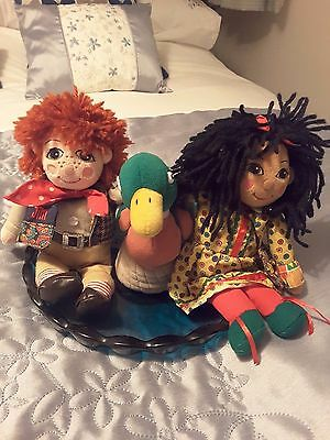 "Rosie & Jim 10"" with Rare Duck + book"