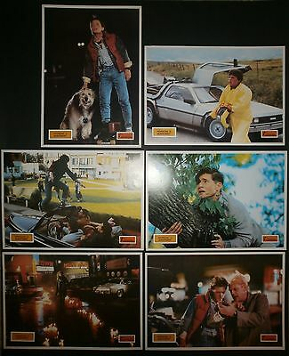 BACK TO THE FUTURE Michael J. Fox Spielberg 1985 COMPLETE YUGO LOBBY CARDS SET