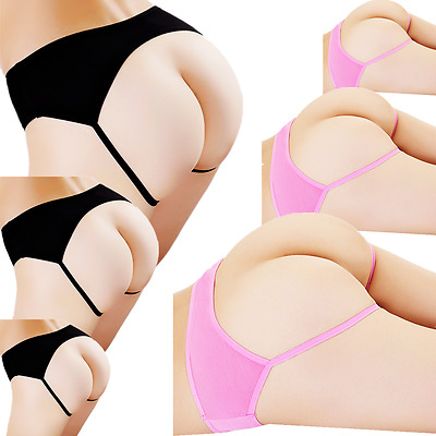 Underwear New G-string Cotton Panties Briefs 6 Knickers Women Underpants Thongs