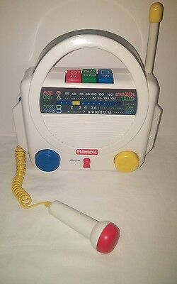 Playskool PS-240 Portable AM FM TV Radio Vintage Children's Singing Toy 1990