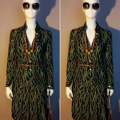 Vintage 1970s Designer Navy Two Piece by Robert Clarence Made in France. Size 8.