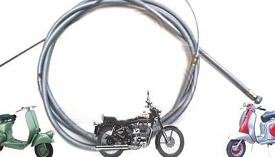 Lambretta Li Gp Sx Tv Clutch Cable Inner And Outer Grey @cad