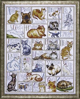 Design Works Counted Cross Stitch Kit ABC Cats DW2701