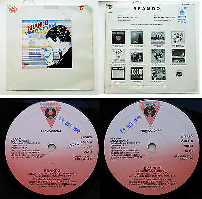 "Brando ‎– What Now My Love  12"" PROMO SPAIN ITALO DISCO  1983"