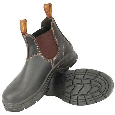 Blundstone Leather Elastic Side Plain Toe Work Boots 405---Special