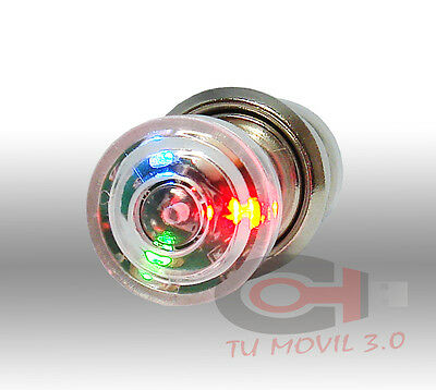 Encendedor mechero de cigarrillos coche automovil luces 3 led multicolor tuning
