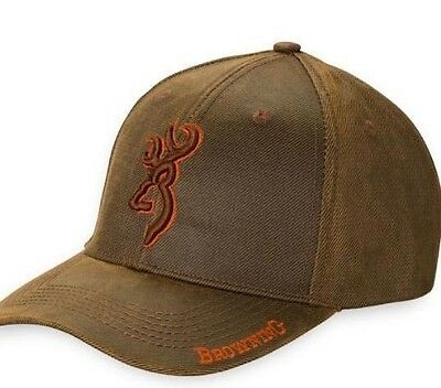 Browning Rhino Brown Cap Hat Shooting Hunting One Size