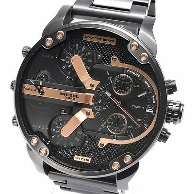 NEW DIESEL DZ7312 Mens Watch Mr.Daddy 2.0 Chronograph Black Stainless DZ7312