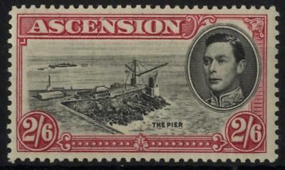 Ascension SG 45/CW 11 1938 2/6d black and deep carmine, perf 13½. Unmounted Mint