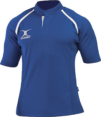 Clearance Line New Gilbert Rugby Xact Shirt Royal - Various Sizes