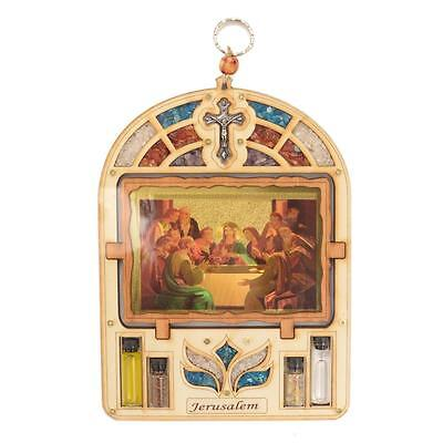 Jesus The Last Supper Wood Plaque Ornament Christianity Wall Hanging Religious