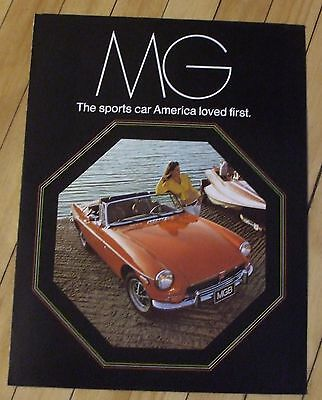 Original 1973 MG Dealer Sales Brochure All Models Color Nice
