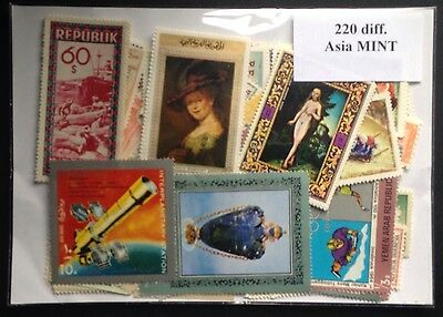 220 x Different MINT ASIA STAMPS Asian Set Collections Collectors diff. Envelope