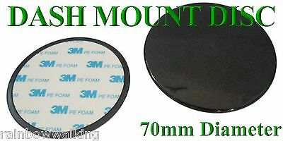 70Mm Rounded Dashboard Mount Disc - With 3M Adhesive Sticky Pad - Free Uk Post