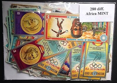 280 Different MINT AFRICA STAMPS African Set Collection Collector diff. Envelope