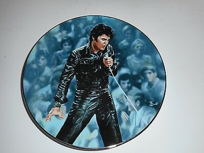 """Elvis Presley """"68 Comeback Special"""" Numbered Collector's Plate COA 1990"""