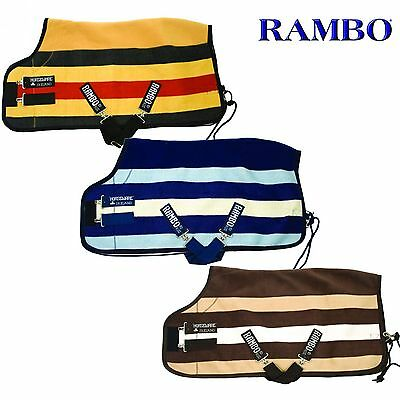 Horseware Rambo Newmarket Fleece Rug - Travel Cooler Sweat Rug - RRP £91.95