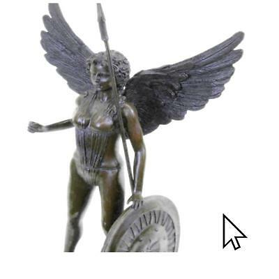 """Signed Moreau,Bronze Statue """"Winged Victory""""Winged Angel Nike Victory Figurine E"""