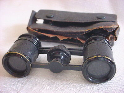 TINY Vintage OPERA GLASSES Adjustable BINOCULARS Antique Pocket Size Small