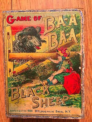 Antique 1888 Black Sheep BA-A BA-A card game! Fabulous, Beautiful Graphics! RARE