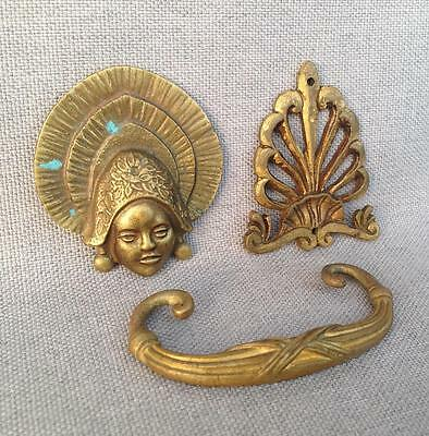 3 Antique furniture ornaments made of bronze France early 1900's