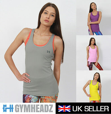 Womens Ladies Gym Racer Back Vest Sports Running Fitness Training Yoga Tank Top