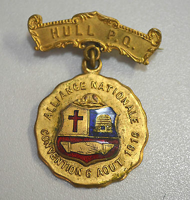 One Gold Canadian medal Alliance Nationale Convention 6 aout 1916 Caron Frères