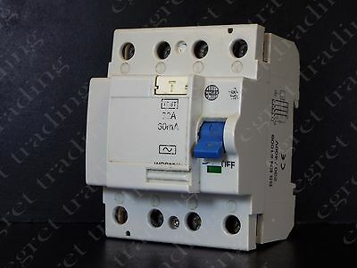 Wylex WRS32/4 4P 32A 30mA RCD RCCB Circuit Breaker - TESTED - Free Delivery