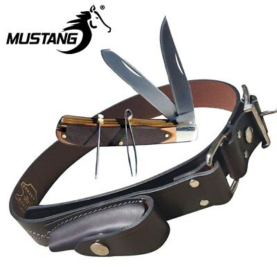 Stockman's Knife with Leather Belt, Mustang Outdoor Gear, Belts, 10352SB52