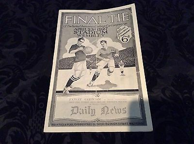 ARSENAL v CARDIFF FA CUP FINAL PROGRAMME 1927 - REPRODUCTION